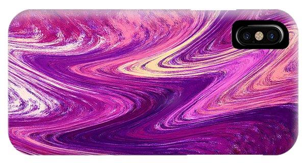 Organic Abstraction iPhone Case - Purple Mountains Reflection Abstract  by Irina Sztukowski