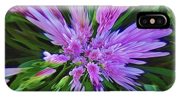 Purple Mums Pinched IPhone Case