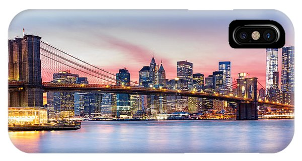Purple Nyc Sunset IPhone Case