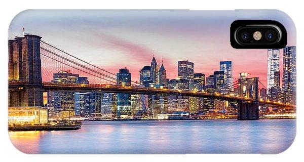 Purple Nyc Sunset IPhone Case