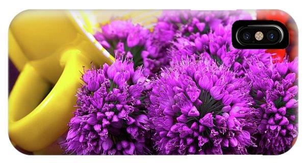 Purple Onion Flower Macro IPhone Case