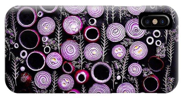 Purple Onion Patterns IPhone Case