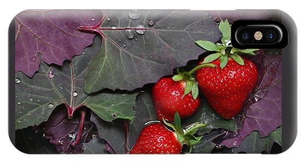 Purple Orach With Strawberries IPhone Case