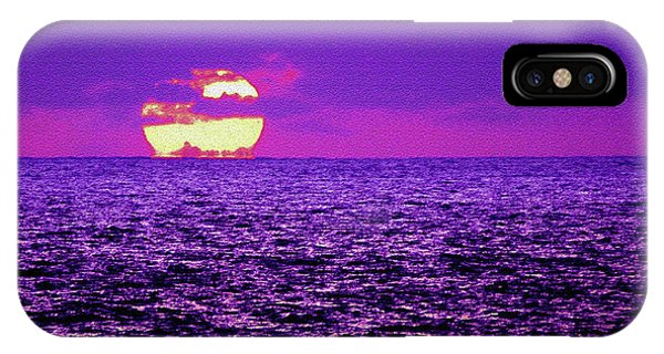 Purple Pacific With Sandstone Texture IPhone Case