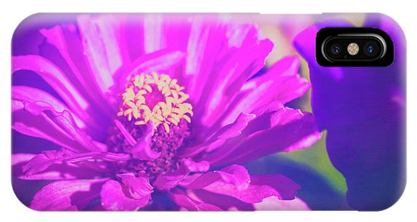 IPhone Case featuring the photograph Purple Passion Flowers by Anna Louise