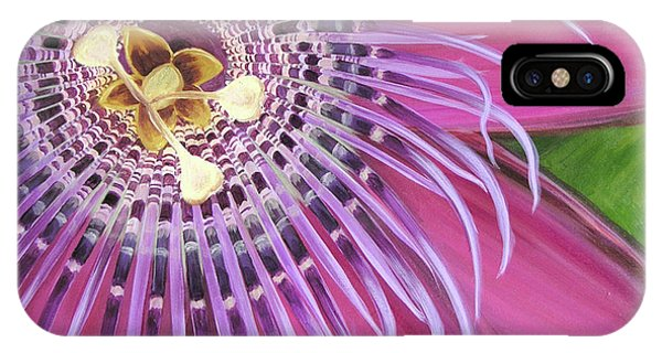 Purple Passionflower IPhone Case