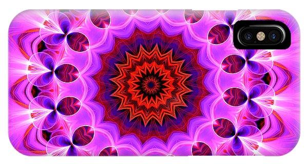 Purple, Pink And Orange Kaleidoscope IPhone Case