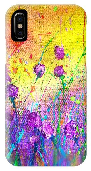 Purple Posies IPhone Case