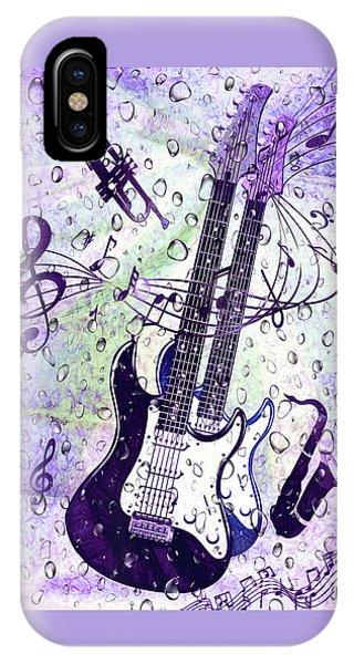 Purple Rain iPhone Case - Purple Rain By Kaye Menner by Kaye Menner