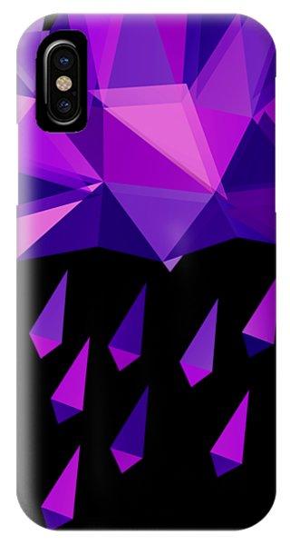 Purple Rain iPhone Case - Purple Rain by Julia Jasiczak