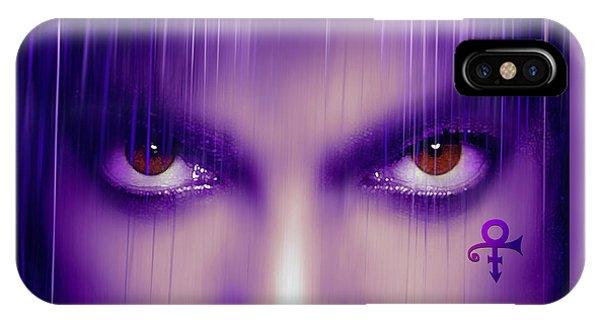 Guitar Legends iPhone Case - Purple Rain Purple Rain by Mal Bray