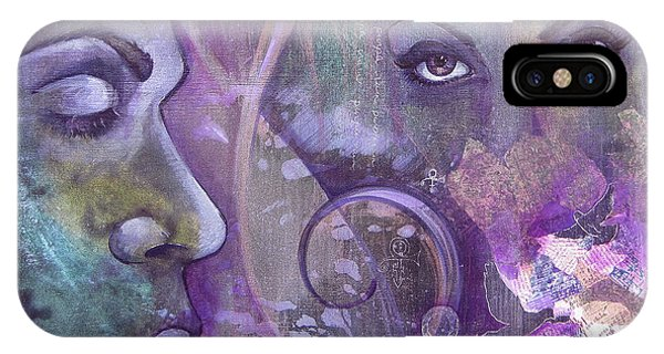 Dove iPhone Case - Purple Rain by Shadia Derbyshire