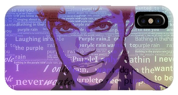 Purple Rain Typography IPhone Case