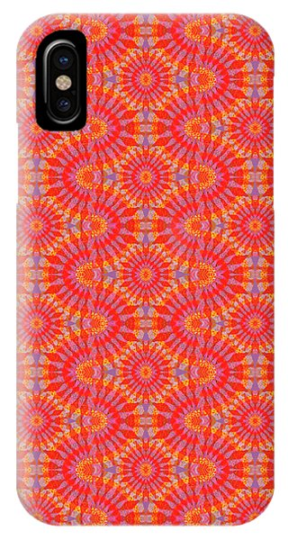 IPhone Case featuring the painting Purple Red Maze by Kym Nicolas