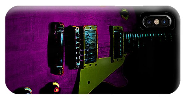 Purple Relic Les Paul II Hover Series IPhone Case