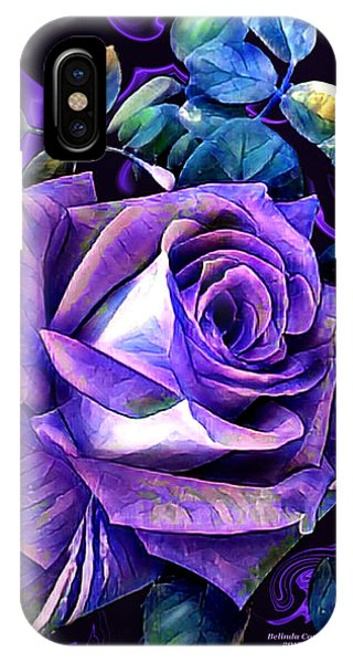 Purple Rose Bud Painting IPhone Case