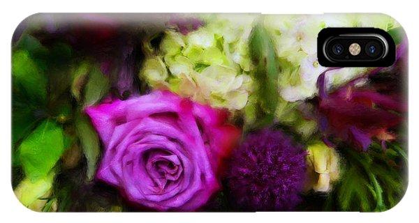 Purple Roses With Hydrangea IPhone Case