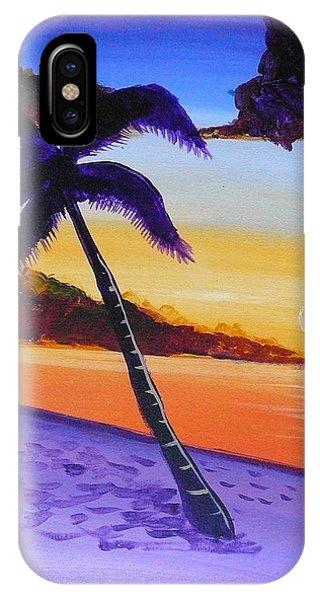 Purple Sand Palm Tree IPhone Case