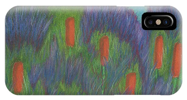 Purple Strife And Cattails IPhone Case
