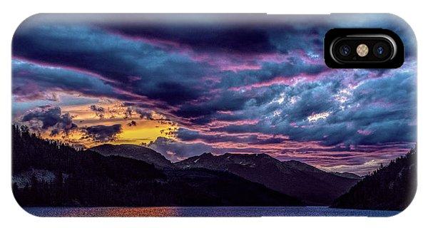 Purple Sunset At Summit Cove IPhone Case