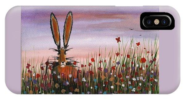 Purple Sunset Hare IPhone Case