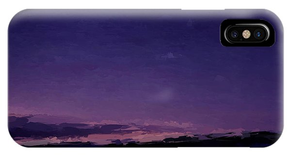 Purple Sunset Over Beach  IPhone Case