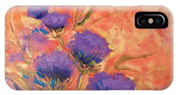 Purple Thistles IPhone Case