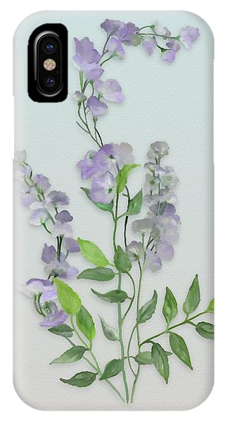 Purple Tiny Flowers IPhone Case