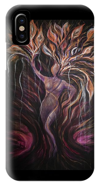 Purple Tree Goddess IPhone Case