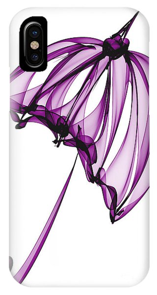 Purple Rain iPhone Case - Purple Umbrella by Ann Garrett