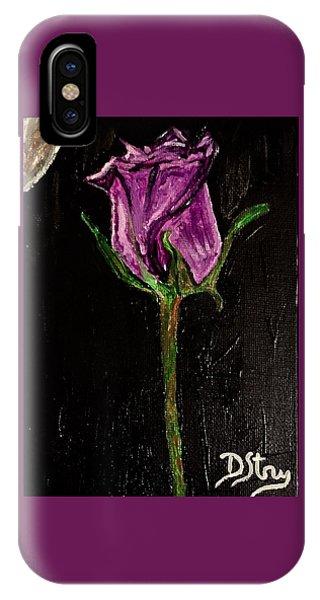 Purple Under The Moon's Glow IPhone Case