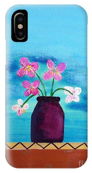 Purple Vase IPhone Case