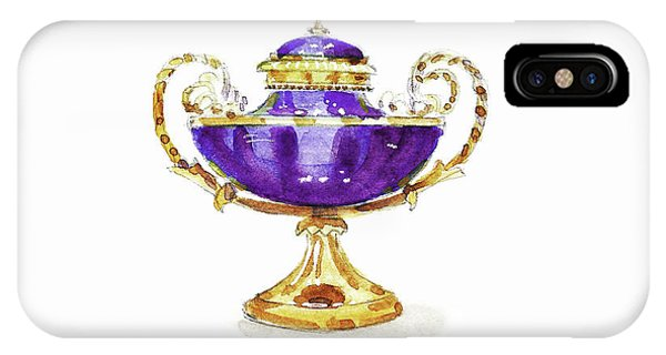 Lid iPhone Case - Purple Vase by Masha Batkova