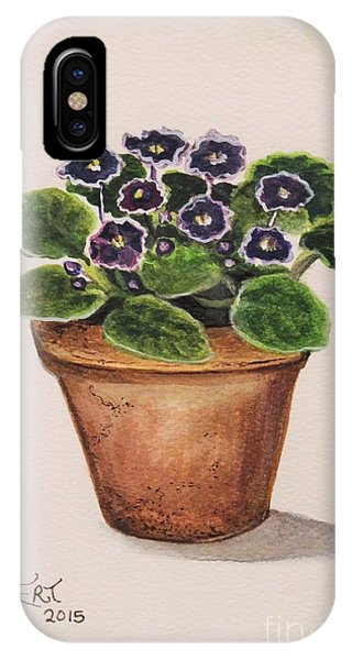Gardens iPhone Case - Purple Violets by Elizabeth Robinette Tyndall