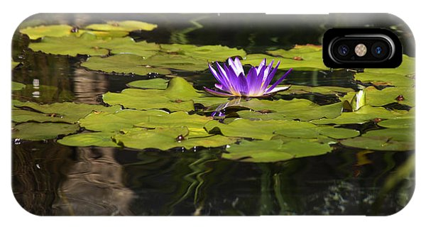 J Paul Getty iPhone Case - Purple Water Lilly Distortion by Teresa Mucha