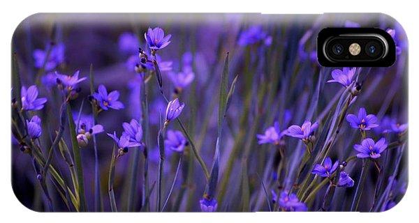 Purple Wildflowers In A Field IPhone Case