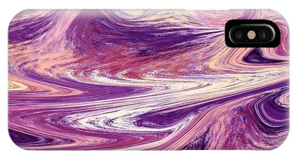 Organic Abstraction iPhone Case - Purple Wind Abstract  by Irina Sztukowski