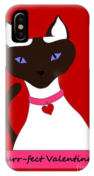 Purr-fect Valentine IPhone Case