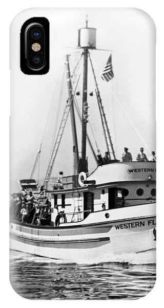 Purse Seiner Western Flyer On Her Sea Trials Washington 1937 IPhone Case
