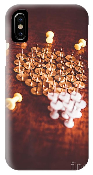 Pushpins And Thumbtacks Arranged As Light Bulb IPhone Case
