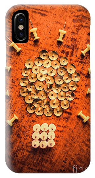 Pushpins Arranged In Light Bulb Icon IPhone Case