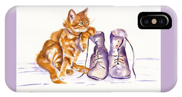 Cat iPhone Case - Puss 'n Boots by Debra Hall