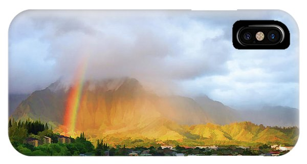 Puu Alii With Rainbow IPhone Case