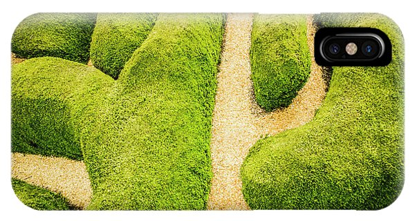 Garden Wall iPhone Case - Puzzling Symmetry by Jorgo Photography - Wall Art Gallery