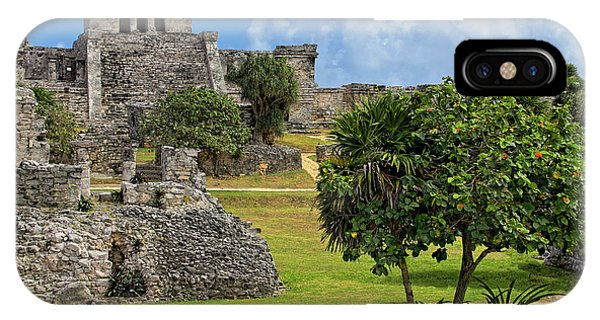 IPhone Case featuring the photograph Pyramid El Castillo - Tulum Mayan Ruins - Mexico by Jason Politte