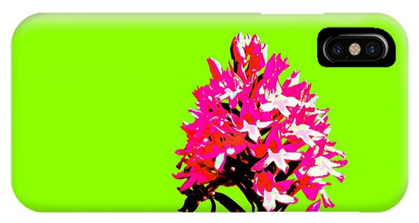 Green Pyramid Orchid IPhone Case