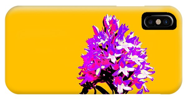 Orange Pyramid Orchid  IPhone Case