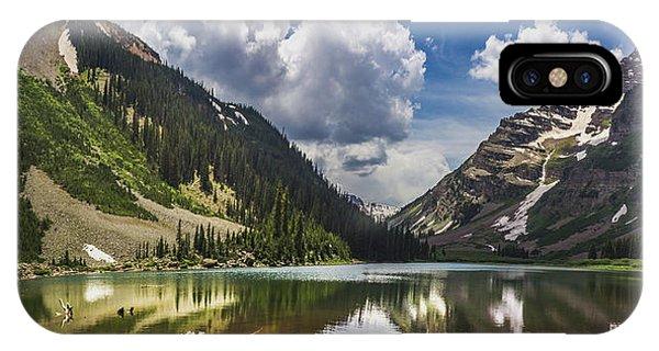 Pyramid Peak, Maroon Bells, And Crater Lake Panorama IPhone Case