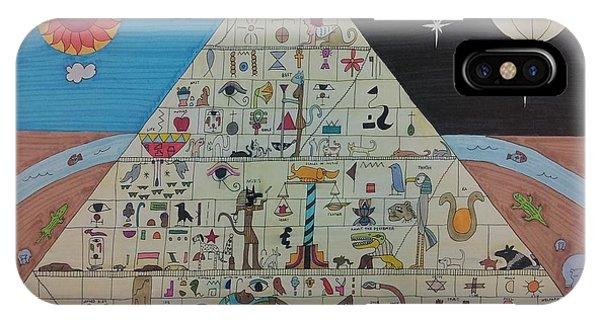 Basalt iPhone Case - Pyramid by William Douglas