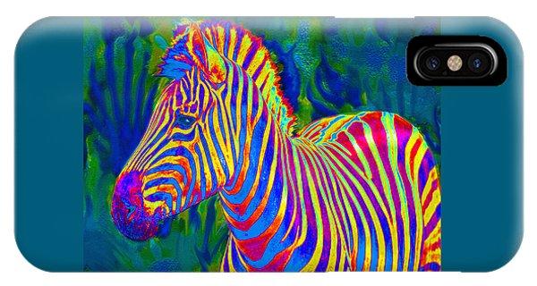 Pyschedelic Zebra IPhone Case